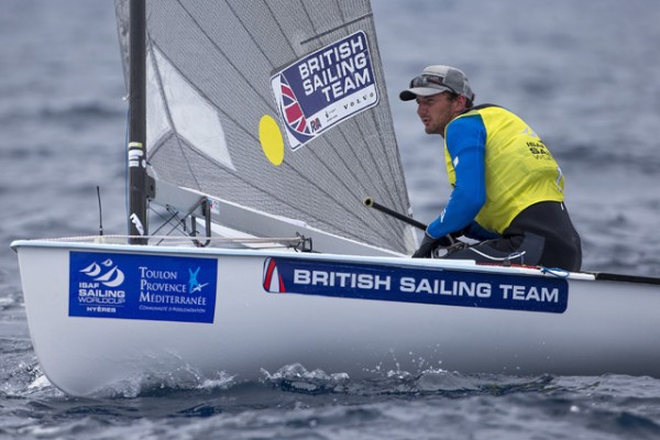 Finn dinghy sailor Giles Scott. Credit: Ocean Images/British Sailing Team