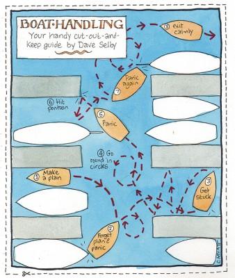 Boat handling tips from Dave Selby. Cartoon credit:Claudia Myatt