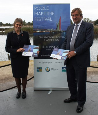 Borough of Poole Councillor Xena Dion and Jim Stewart Chief Executive of Poole Harbour Commissioners