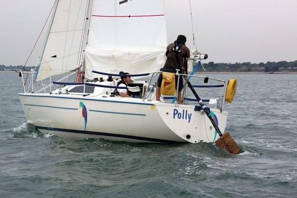 How to steer a yacht without a rudder: Jury steering methods