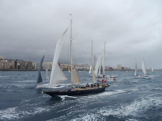 ARC 2015 starting line, Las Palmas de Gran Canaria