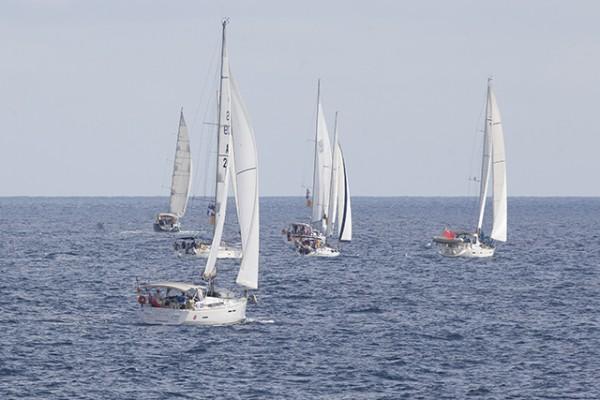 The ARC+ Monohull fleet setting sail for Leg 1 from Las Palmas de Gran Canaria © WCC/Claire Pengelly