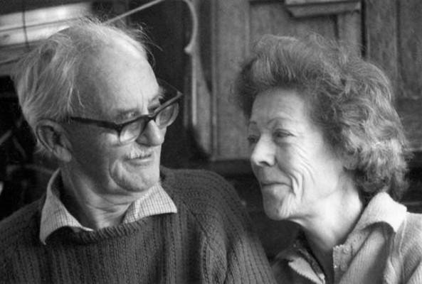 Admiral Mary Barton, with her husband Humphrey. Credit Ocean Cruising Club