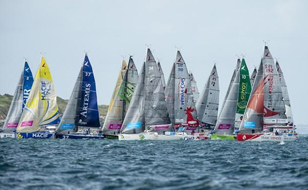 Solitaire du Figaro 2015 Fleet. Credit: Lloyd images