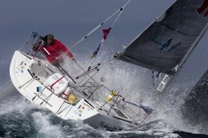 Solitaire du Figaro 2015 skipper Yann Eliès. Credit: Alexis Courcoux
