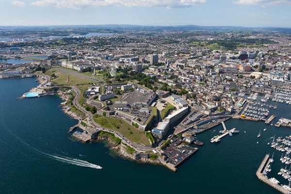 An aerial view of Plymouth ©Trevor Burrows