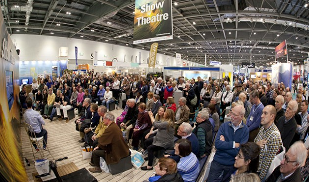 Sir Ben Ainslie at the London Boat Show Theatre. Credit: onEdition