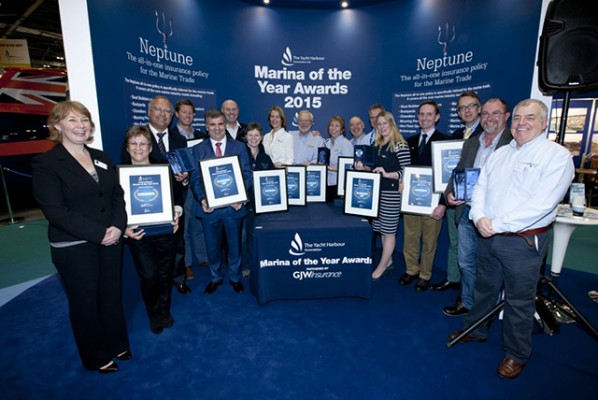 THYA Marina of the Year Awards 2015 at the CWM FX London Boat Show 2015. Credit onEdition