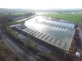 White Mills Marina on the River Nene at Earls Barton in Northamptonshire