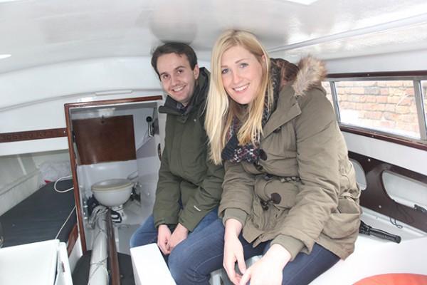 PBO Project Boat winner Anna Millington and her partner Andrew Ellison