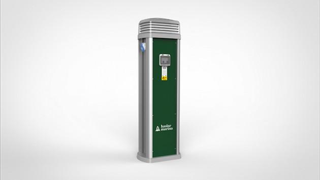 Haslar Marina install Rolec's brand new electricity service pedestal