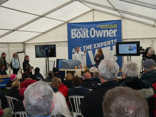 International Paint's demo at PBO Ask the Experts Live 2015 given by Kate Moss and Roger Bolton
