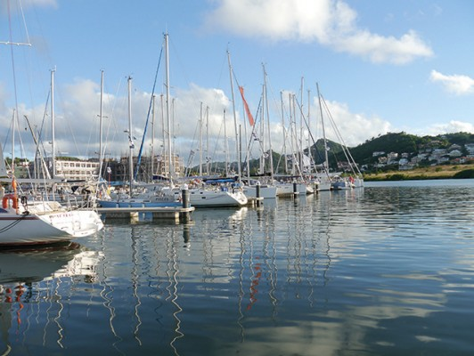 The ARC yacht Pisces at IGY Rodney Bay Marina, St Lucia