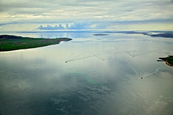 Scapa Flow aerial. Credit: Orkney Island Council