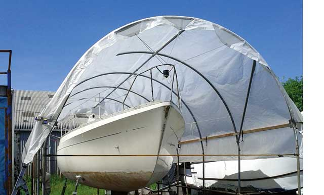 Practical Boat Owner ... & Making a boat tent from a polytunnel - Practical Boat Owner