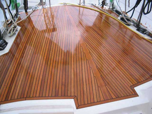 The truth about teak decks practical boat owner for What is the best wood for decking