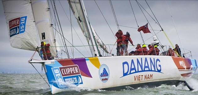Clipper race yacht Da Nang Vietnam. Credit: clipperroundtheworld.com