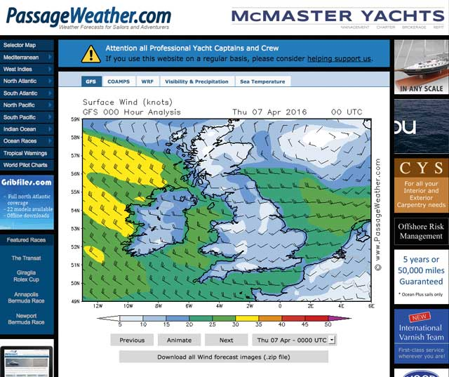 Sailing weather apps and websites - Practical Boat Owner