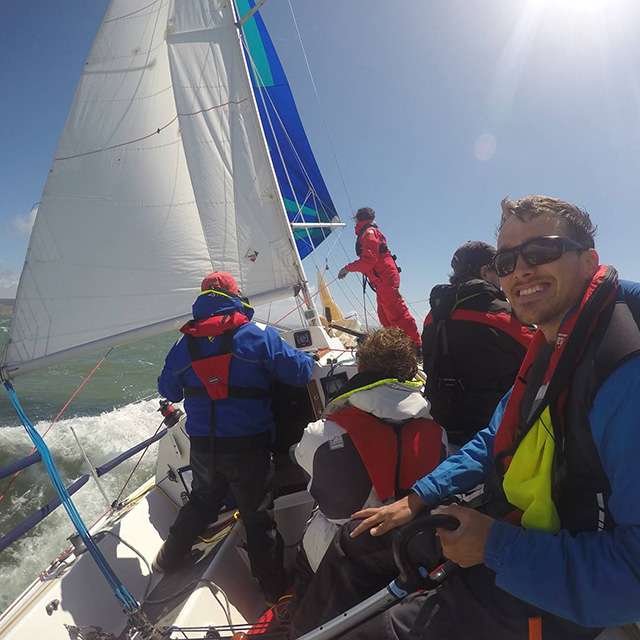 PBO deputy editor Ben Meakins racing aboard his Impala Polly at Round the Island Race 2016