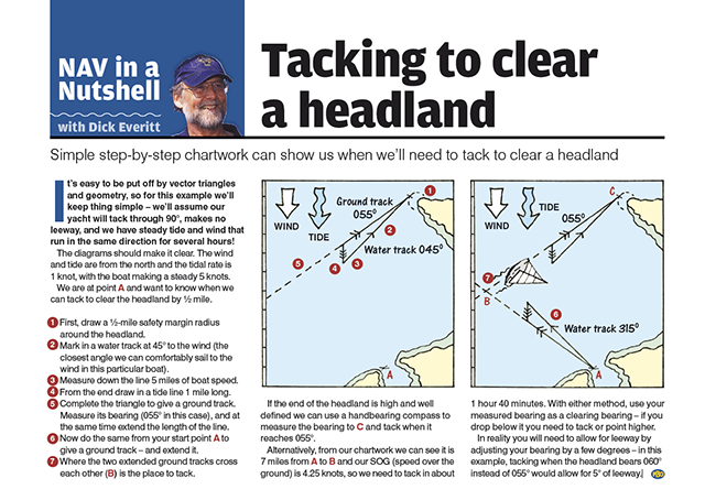 Nav in a Nutshell: Tacking to clear a headland