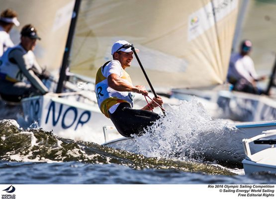 Finn sailor Giles Scott in action. ©Sailing Energy / World Sailing