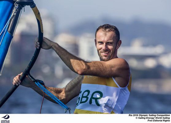 Nick Dempsey at the Rio 2016 Olympic sailing competition. Credit: Sailing Energy/World Sailing
