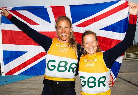 k and Hannah Mills. Credit: British Sailing Team