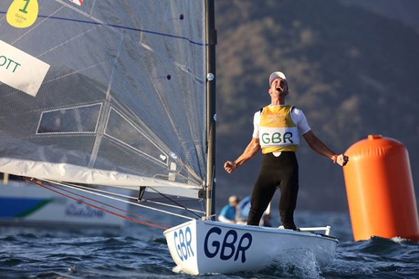 Straight from the race course of Giles Scott winning an Olympic gold medal. Credit: British Sailing Team