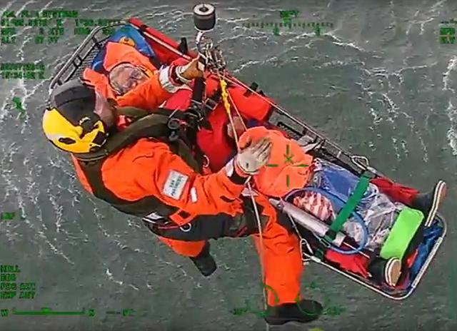 UK Coastguard medevacs woman from Clipper Race yacht