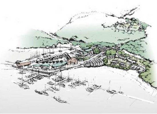 Draft plans for Devon's Noss on Dart Marina