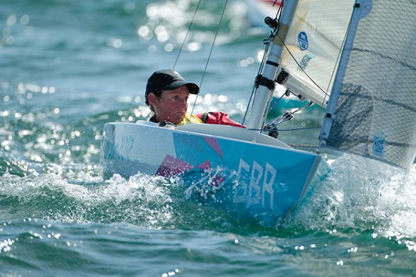 Helena Lucas racing at the London 2012 Paralympic sailing competition. Credit: onEdition 2012