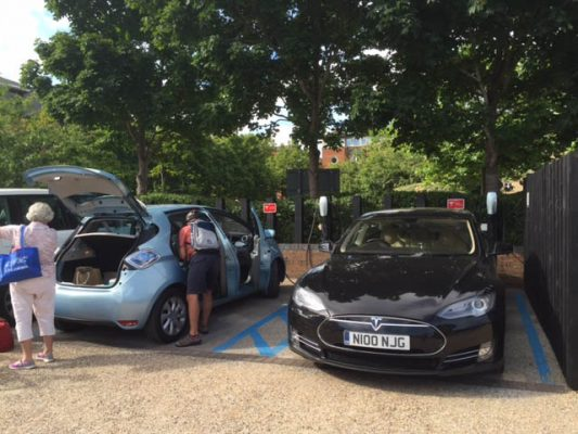Tesla charging points at MDL Marinas
