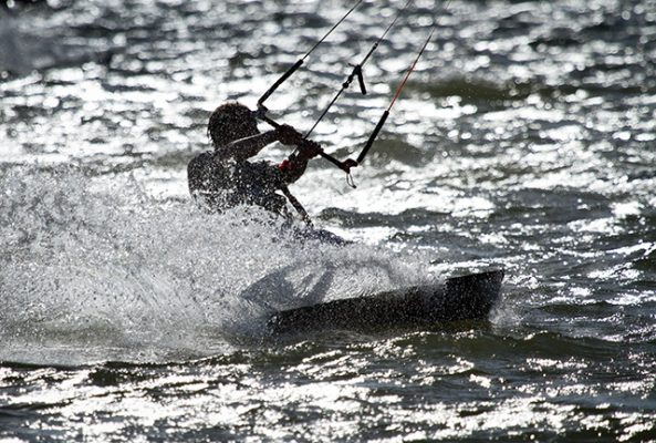 Kitesurfer in Poole Harbour. Credit: Nathan Williams
