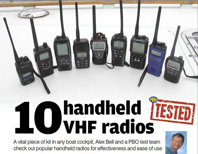 pbo tested 10 handheld vhf radios practical boat owner. Black Bedroom Furniture Sets. Home Design Ideas