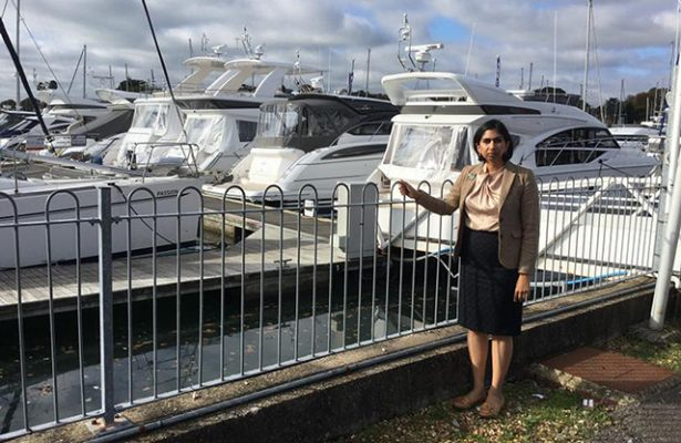 Fareham MP Suella Fernandes has spoken out against the growing problem of thefts from boats in the Solent area
