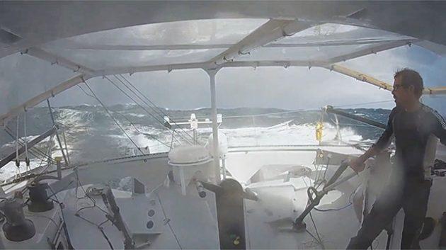 Thomas Ruyant aboard Le Souffle du Nord
