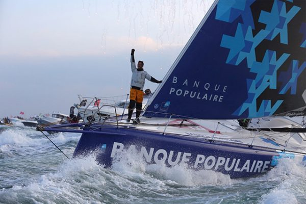 Armel Le Cléac'h wins the Vendée Globe 2016-17 in record time. Credit © Jean-Marie Liot / DPPI / VENDEE GLOBE