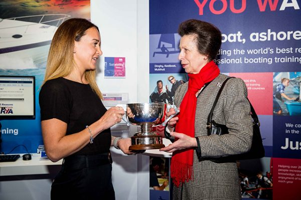 HRH Princess Anne and Yachtsman of the Year Zara Roberts