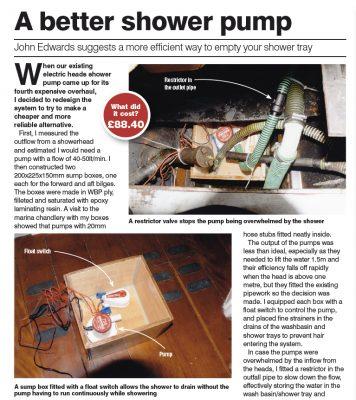 A better shower pump