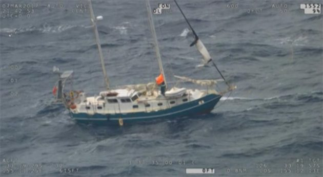 40ft yacht rescue 210NM off the coast of Sydney