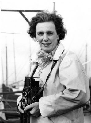 Eileen Ramsay on Hamble Marina, summer 1963. Credit: Eileen Ramsay / PPL