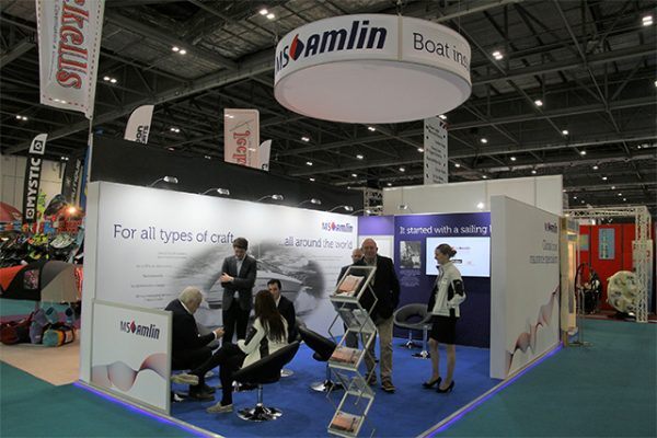 MS Amlin stand at London Boat Show