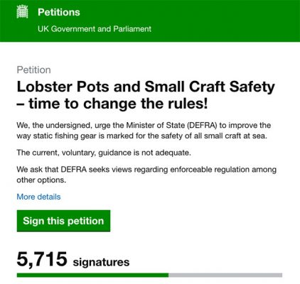 Lobster pot petition