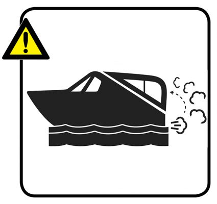 Backdraughting Exhaust Warning