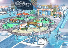 Boating and Watersports Holidays Show artist impression