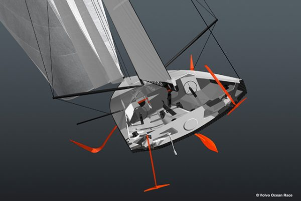 Offshore 60 foot (18.29m) foil-assisted monohull. Credit: Volvo Ocean Race