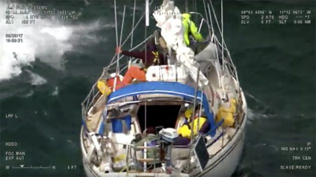 UK Coastguard helicopter makes 500 mile mercy dash to rescue unwell yachtsman in the Atlantic