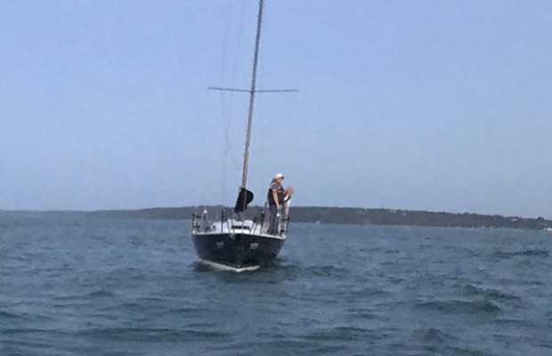 Yacht rescue at Bramble Bank. Credit: GAFIRS