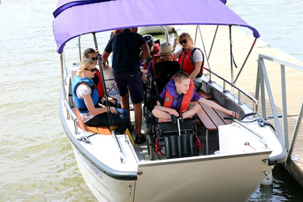 Wheelyboat Coulam V20 launch at Young Epilepsy. Credit: Young Epilepsy