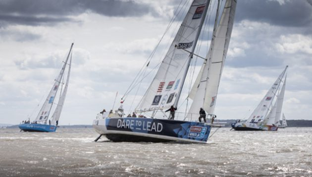 Clipper round-the-world yacht race start. Credit: onEdition